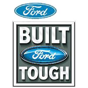Ford Built Tough Polo Shirt White 2X-LARGE