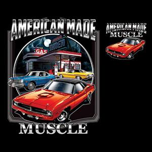 American Made Muscle - Mopar T-Shirt Black LARGE