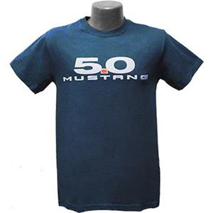 5.0 Mustang T-Shirt Sea Blue 2X-LARGE