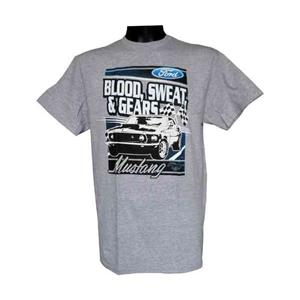 Blood Sweat & Gears Mustang T-Shirt Grey LARGE