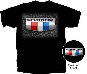 Camaro 2016 Badge T-Shirt Black MEDIUM