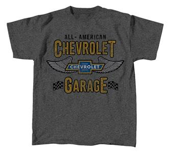 All American Chevrolet Garage T-Shirt Dark Grey LARGE