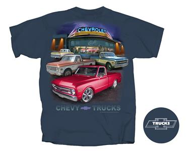 Chevrolet Trucks Dealership T-Shirt Midnight Blue LARGE