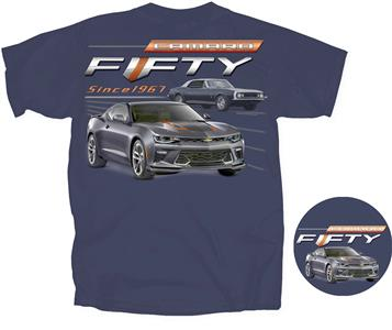 d97571ad Chevrolet Camaro Fifty - Since 1967 T-Shirt Navy Blue LARGE