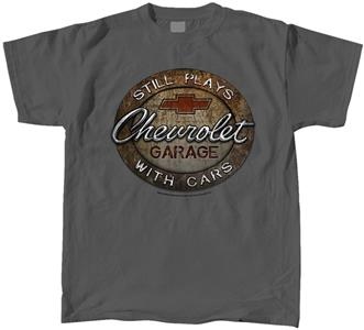 Chevrolet Garage - Still Plays With Cars T-Shirt Grey LARGE