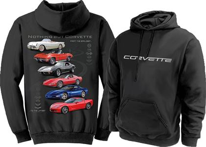 Nothing But Corvette Hoodie Black 2X-LARGE