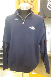 Chevrolet Zip Collared Sweatshirt Navy Blue LARGE