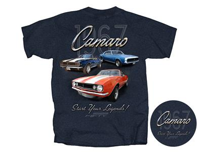 Camaro 1967 Start Your Legends T-Shirt Midnight Blue LARGE