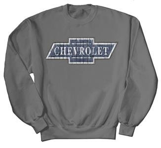Chevrolet Wooden Logo Sweatshirt Grey 2X-LARGE