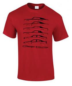 Dodge Charger Evolution T-Shirt Red LARGE