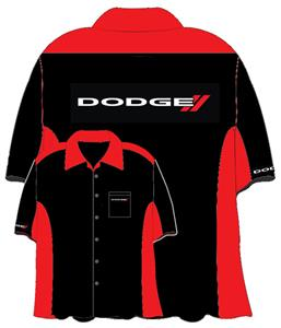 Dodge Crew Shirt Black/Red 2X-LARGE