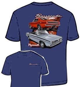 Plymouth Barracuda T-Shirt Blue LARGE