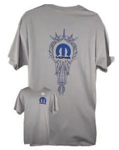 Mopar Pinstripe T-Shirt Grey LARGE