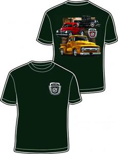 Ford 3 Trucks T-Shirt Green LARGE