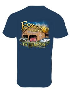 Mustang - Foxes In The Henhouse T-Shirt Blue 2X-LARGE