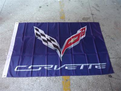 Corvette Flag Blue/Purple 150x90cm