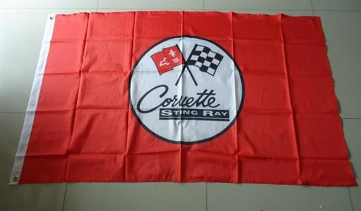 Corvette Stingray Flag Red 150x90cm