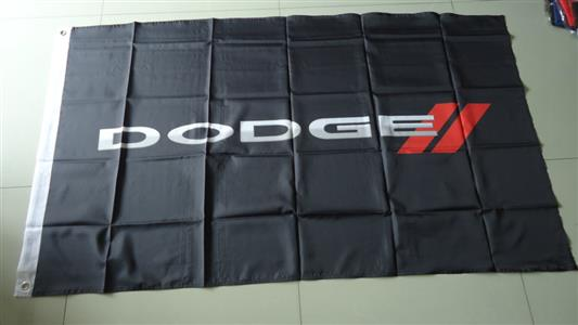 Dodge Flag Black 150x90cm