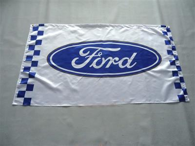 Ford Flag Blue Oval On White Background 150x90cm