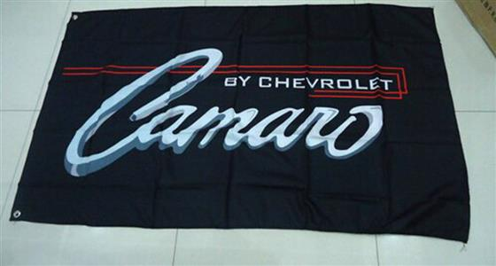 Camaro By Chevrolet Flag Black 150x90cm