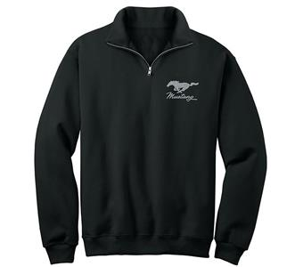 Ford Mustang Embroidered Fleece Black LARGE