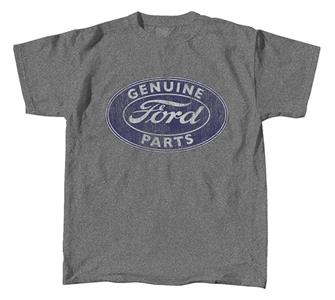 Ford Genuine Parts Sign T-Shirt Grey LARGE