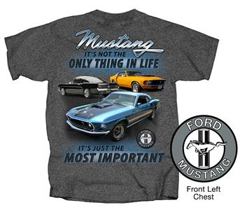 Ford Mustang Most Important T-Shirt Charcoal Grey 2X-LARGE