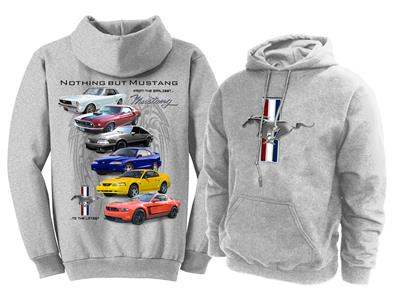 Nothing But Mustang Hoodie Grey 2X-LARGE