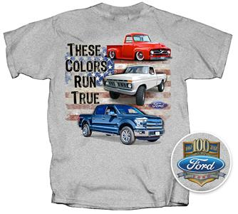 Ford Trucks - These Colors Run True T-Shirt Grey LARGE