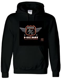Dodge Hemi Garage Hoodie Black LARGE