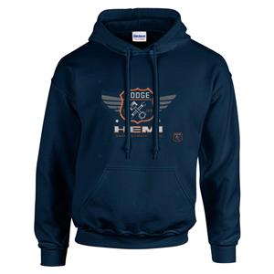 Dodge Hemi Garage Hoodie Dark Blue 2X-LARGE
