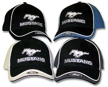 Mustang With Ford Cap Bone and Black