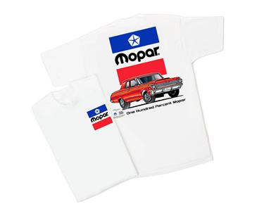Mopar 64 - One Hundred Percent Mopar T-Shirt White LARGE