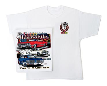 Oldsmobile 442 The W Machines T-Shirt White LARGE