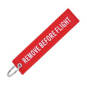 Remove Before Flight Keyring White On Red