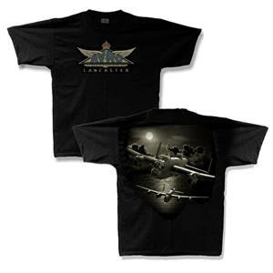 Avro Lancaster 25th Anniversary T-Shirt Black LARGE