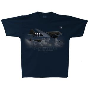 C-47 Skytrain Operation Overlord T-Shirt Black 2X-LARGE