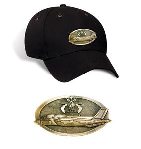 F-35 Lightning II Brass Badge Cap Black