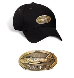 F-86 Sabre Brass Badge Cap Black