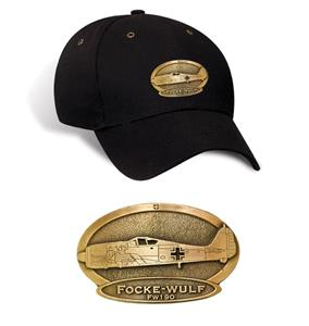 Focke-Wulf FW-190 Brass Badge Cap Black