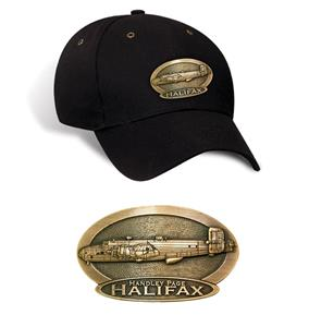 Handley Page Halifax Brass Badge Cap Black