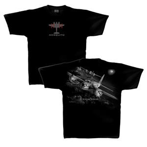 De Havilland Mosquito Night T-Shirt Black 2X-LARGE