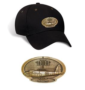 De Havilland Mosquito Brass Badge Cap Black