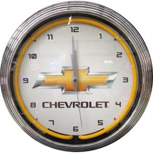 Chevrolet Neon Clock - White Background