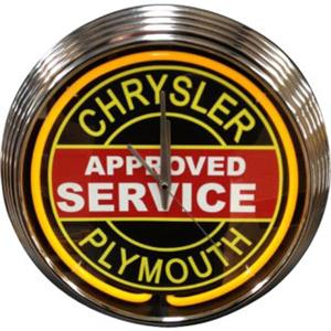 Chrysler & Plymouth Approved Service Neon Clock