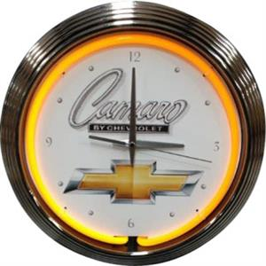 Chevrolet Camaro Neon Clock - White Background