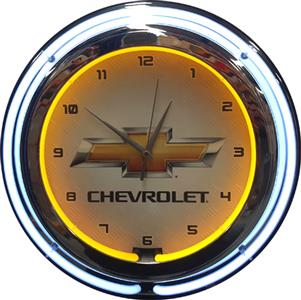 Chevrolet Double Tube Neon Clock