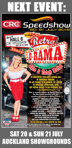 Next event: The CRC Speedshow July 20 & 21 - we're in the Retro-O-Rama Vintage Market in Hall 6