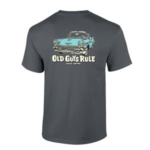 Old Guys Rule - Cruise Control T-Shirt Charcoal Large