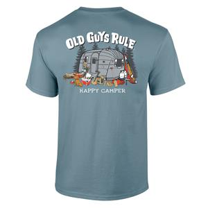 Old Guys Rule - Happy Camper T-Shirt Blue LARGE